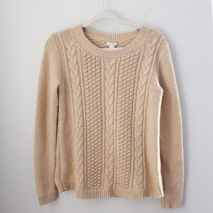J. CREW | Women's Sweater Tan Cable Knit Small